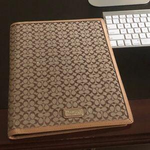 """COACH pad cover 10""""w x 12.5 h"""